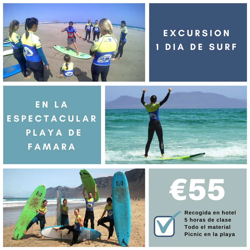 excursion de surf de 1 día